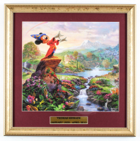 "Thomas Kinkade's ""Sorcerer's Apprentice"" 16x16 Custom Framed Print Display at PristineAuction.com"