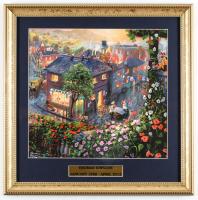 "Thomas Kinkade's ""Lady & the Tramp"" 16x16 Custom Framed Print Display at PristineAuction.com"