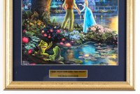"Thomas Kinkade's ""The Princess And The Frog"" 16x16 Custom Framed Print Display at PristineAuction.com"