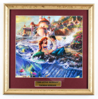 "Thomas Kinkade's ""The Little Mermaid"" 16x16 Custom Framed Print Display at PristineAuction.com"