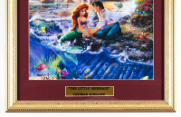 "Thomas Kinkade's ""The Little Mermaid"" 16x16 Custom Framed Print Display at PristineAuction.com"