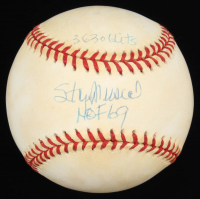 "Stan Musial Signed OML Baseball Inscribed ""3,630 Hits"" & ""HOF 69"" (Steiner COA) at PristineAuction.com"