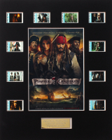 """Pirates of the Caribbean: On Stranger Tides"" LE 8x10 Custom Matted Original Film / Movie Cell Display at PristineAuction.com"