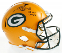 """Jordy Nelson Signed Packers Full-Size Speed Helmet Inscribed """"SB XLV Champs"""" (JSA COA) at PristineAuction.com"""