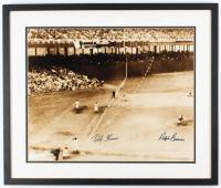 Ralph Branca & Bobby Thompson LE Signed 21x25 Custom Framed Photo Display (Steiner COA) at PristineAuction.com