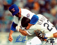 Nolan Ryan Signed Rangers 8x10 Photo (AIV COA & Ryan Hologram) at PristineAuction.com