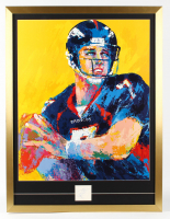 "John Elway Signed LeRoy Neiman ""John Elway"" 26x34 Custom Framed Cut Display with Vintage Lithograph of John Elway (PSA Authentic) at PristineAuction.com"