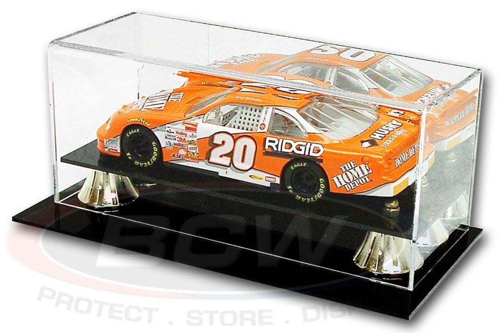 Deluxe Acrylic Full-Size 1:24 Die-Cast Car Display Case Black Base at PristineAuction.com
