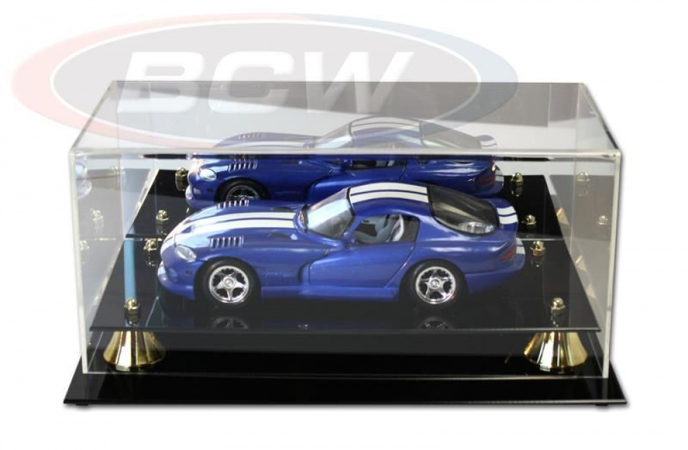 Deluxe Acrylic Full-Size 1:18 Die-Cast Car Display Case Black Base at PristineAuction.com
