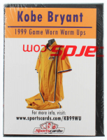 Kobe Bryant 1999 Lakers Game-Worn Basketball Swatch Display at PristineAuction.com