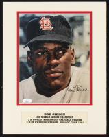 Bob Gibson Signed Cardinals 11x14 Custom Matted Signature Photo Display (JSA COA) at PristineAuction.com