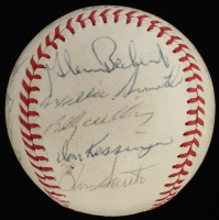 1960s Cubs Baseball Signed by (24) with Leo Durocher, Ernie Banks, Fergie Jenkins, Billy Williams (JSA ALOA) at PristineAuction.com