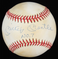 "Mickey Mantle Signed OAL Baseball Inscribed ""No. 7"" (UDA COA) at PristineAuction.com"