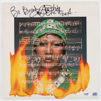 """Aretha Franklin Signed """"Almighty Fire"""" Vinyl Record Album Cover Inscribed """"Be Blessed"""" & """"2014"""" (PSA Hologram) at PristineAuction.com"""