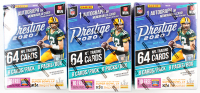 Lot of (3) 2020 Panini Prestige Football Blaster Box with (8) Packs at PristineAuction.com