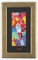 "Leroy Neiman ""Michael Jordan"" 9.5x15.5 Custom Framed Print Display With Bulls Pin at PristineAuction.com"