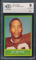 Jim Brown 1963 Topps #14 SP (BCCG 8) at PristineAuction.com