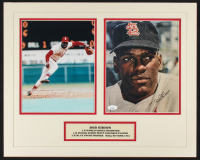 Bob Gibson Signed Cardinals 16x20 Custom Matted Photo Display (JSA COA) at PristineAuction.com
