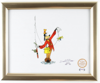 """Dale Oliver Signed """"How To Fish"""" 13x16 Custom Framed Animation Serigraph Display Inscribed """"'48 - '82"""" (PSA COA) at PristineAuction.com"""