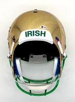 Joe Montana Signed Signed Notre Dame Fighting Irish Full-Size Chrome Raindrop Helmet (Beckett COA) at PristineAuction.com