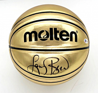 Larry Bird Signed Gold Basketball (Beckett COA) at PristineAuction.com