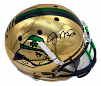 Joe Montana Signed Signed Notre Dame Fighting Irish Full-Size Chrome Raindrop Helmet (Beckett COA) at PristineAuction.com