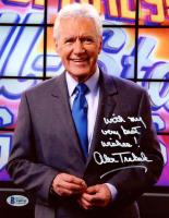 "Alex Trebek Signed ""Jeopardy"" 8x10 Photo Inscribed ""With My Very Best Wishes!"" (Beckett COA) at PristineAuction.com"