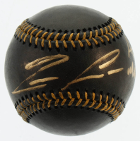 "Ronald Acuna Jr. Signed OML Black Leather Baseball Inscribed ""Acuna Matata"" (Beckett COA) at PristineAuction.com"
