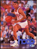 Kevin Johnson Signed 1991 Hoop Magazine (Beckett COA) at PristineAuction.com