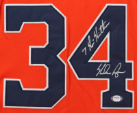 "Nolan Ryan Signed Astros 32x36 Custom Framed Jersey with Hall of Fame Induction Pin Inscribed ""7 No-Hitters"" (PSA COA) at PristineAuction.com"
