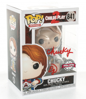 """Ed Gale Signed """"Child's Play 2"""" #841 Chucky Funko Pop! Vinyl Figure Inscribed """"Chucky"""" (PSA COA) at PristineAuction.com"""