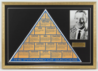 "John Wooden Signed UCLA Bruins ""The Pyramid of Success"" 22x31 Custom Framed Photo Display Inscribed ""Best Wishes"" & ""UCLA (Ret.)"" (PSA COA) at PristineAuction.com"