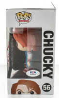 """Ed Gale Signed """"Child's Play 2"""" #56 Chucky Funko Pop! Vinyl Figure Inscribed """"Chucky"""" (PSA COA) at PristineAuction.com"""