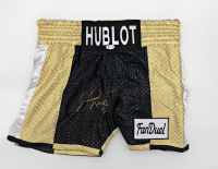 Floyd Mayweather Jr. Signed TMT Boxing Trunks (Beckett COA) at PristineAuction.com