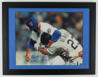 "Nolan Ryan Signed Rangers 21.5x27 Custom Framed Photo Display Inscribed ""Don't Mess With Texas!"" (Nolan Ryan Hologram) at PristineAuction.com"