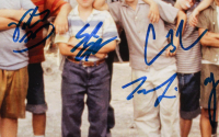 """The Sandlot"" 17.5x21.5 Custom Framed Photo Display Cast-Signed by (6) with Tom Guiry, Marty York, Shane Obedzinski, Victor DiMattia, Chauncey Leopard & Brandon Adams with Character Inscriptions (Beckett COA) at PristineAuction.com"