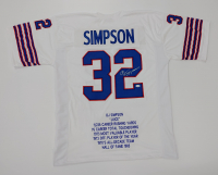 O. J. Simpson Signed Career Highlight Stat Jersey (JSA COA) at PristineAuction.com