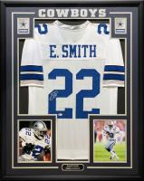Emmitt Smith Signed 34.5x42.5 Custom Framed Jersey (Beckett & PROVA COA) at PristineAuction.com