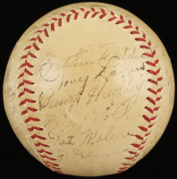 1937 Yankees OAL Baseball Signed by (26) with Lou Gehrig, Bill Dickey, Earle Combs, Tony Lazzeri, Art Fletcher (JSA LOA) at PristineAuction.com