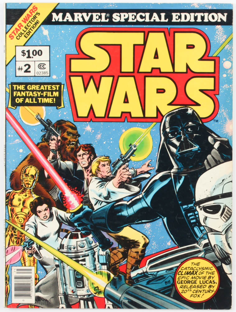"1977 ""Star Wars"" Issue #2 Marvel Special Edition Jumbo Whitman Comic Book at PristineAuction.com"
