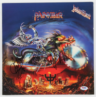 "Judas Priest ""Painkiller"" Vinyl Record Album Cover Band-Signed by (4) with Scott Travis, Ian Hill, Rob Halford & Glenn Tipton (PSA LOA) at PristineAuction.com"