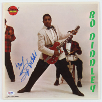 "Bo Diddley Signed ""Bo Diddley"" Vinyl Record Album Cover (PSA Hologram) at PristineAuction.com"