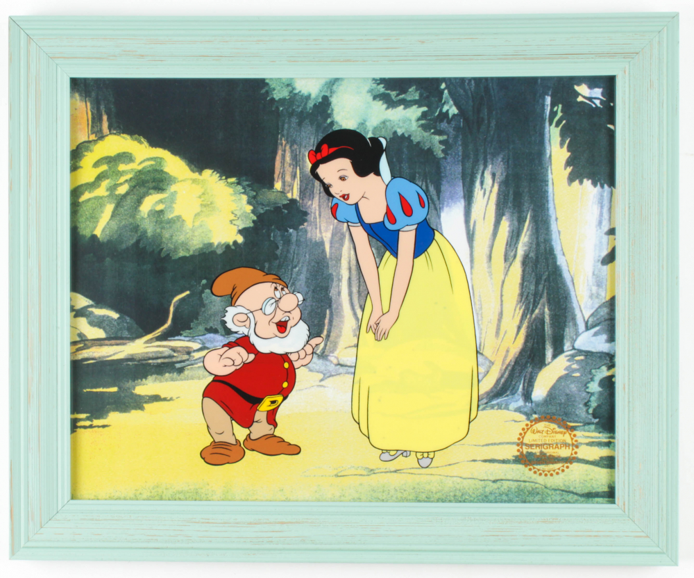 """""""Snow White"""" 13.5x16.5 Custom Framed Animation Serigraph Display at PristineAuction.com"""