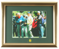 Arnold Palmer, Jack Nicklaus & Tiger Woods Masters Tournament 13x16 Custom Framed Photo Display with Master Tournament Pin at PristineAuction.com