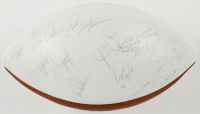 1988 49ers Super Bowl XXIII Logo Football Signed By (39) With Joe Montana, Jerry Rice, Steve Young, Ronnie Lott With Display Case (Beckett LOA) at PristineAuction.com