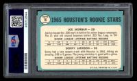 Joe Morgan Signed 1965 Topps #16 Rookie Stars Joe Morgan / Sonny Jackson RC DP (PSA Encapsulated) at PristineAuction.com