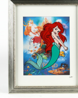 "Walt Disney's ""The Little Mermaid"" 13x16 Custom Framed Hand-Painted Animation Serigraph Display at PristineAuction.com"