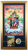 """Splash Mountain"" 15x26.5 Custom Framed Poster Display with 1988 Opening Day Lapel Pin & Vintage Postcard at PristineAuction.com"