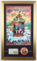 "Disneyland ""Splash Mountain"" 15x25 Custom Framed Poster Display with Tokyo Disneyland Vintage Ride Pin & Ticket Book at PristineAuction.com"