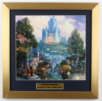 "Thomas Kinkade's ""Cinderella's Castle"" 16x16 Custom Framed Print Display at PristineAuction.com"